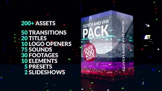 200+ Glitch Pack: Premiere Pro Templates