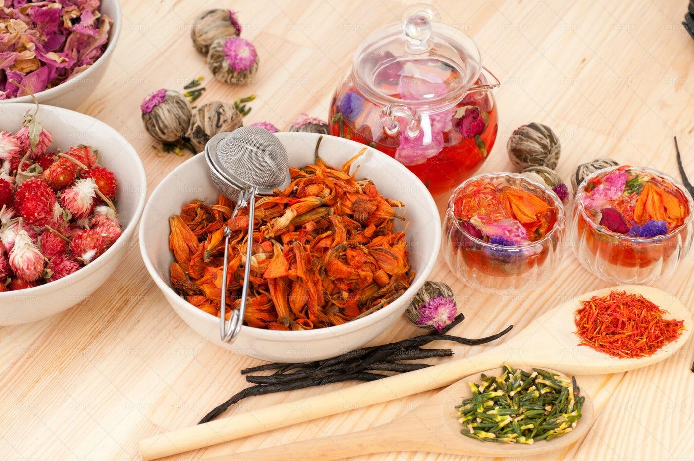Floral Tea Infusion: Stock Photos