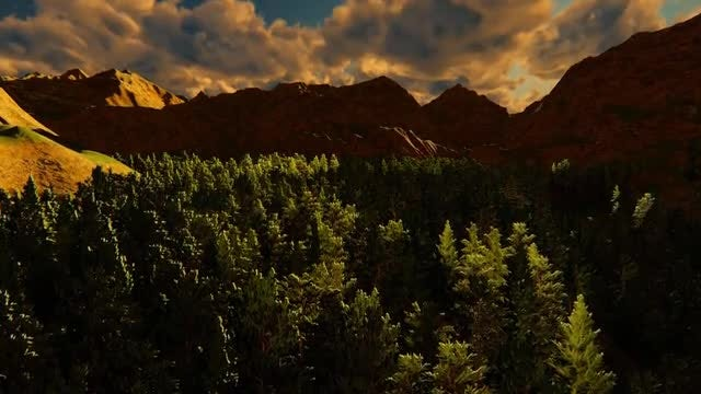 Sunrise In The Mountains: Stock Motion Graphics