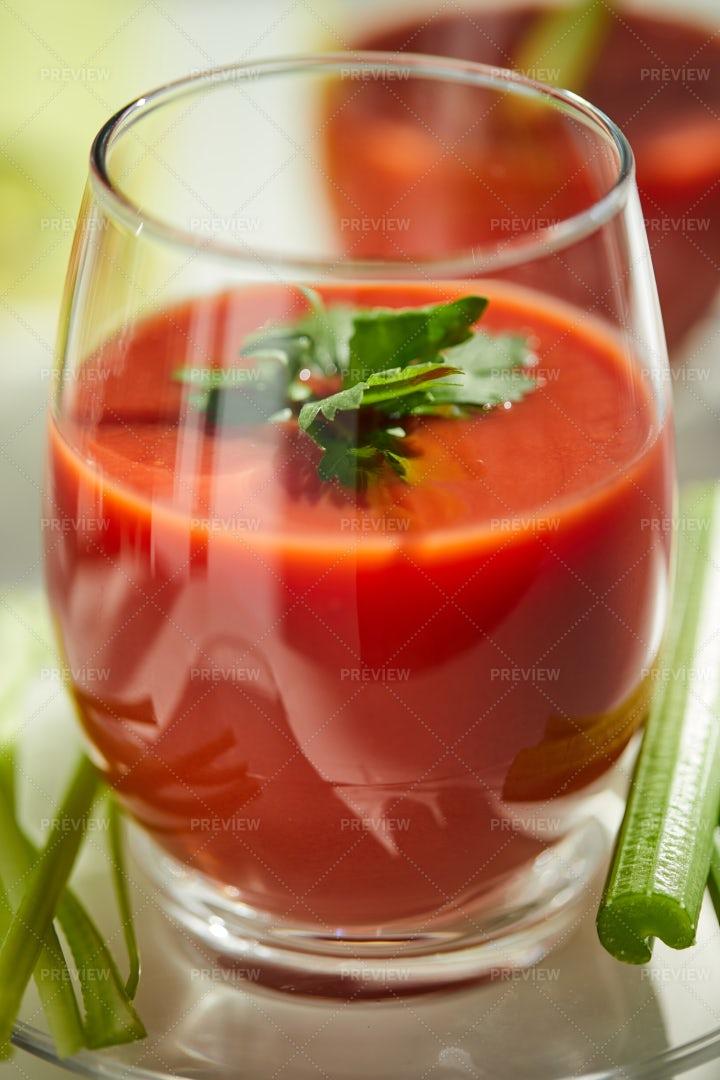 Glass Of Tomato Juice: Stock Photos
