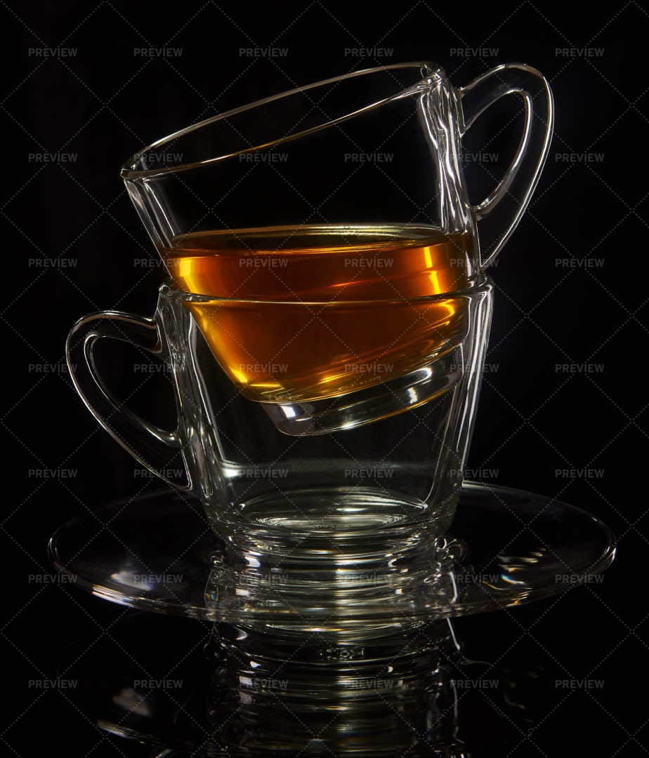 Two Cups With Tea: Stock Photos