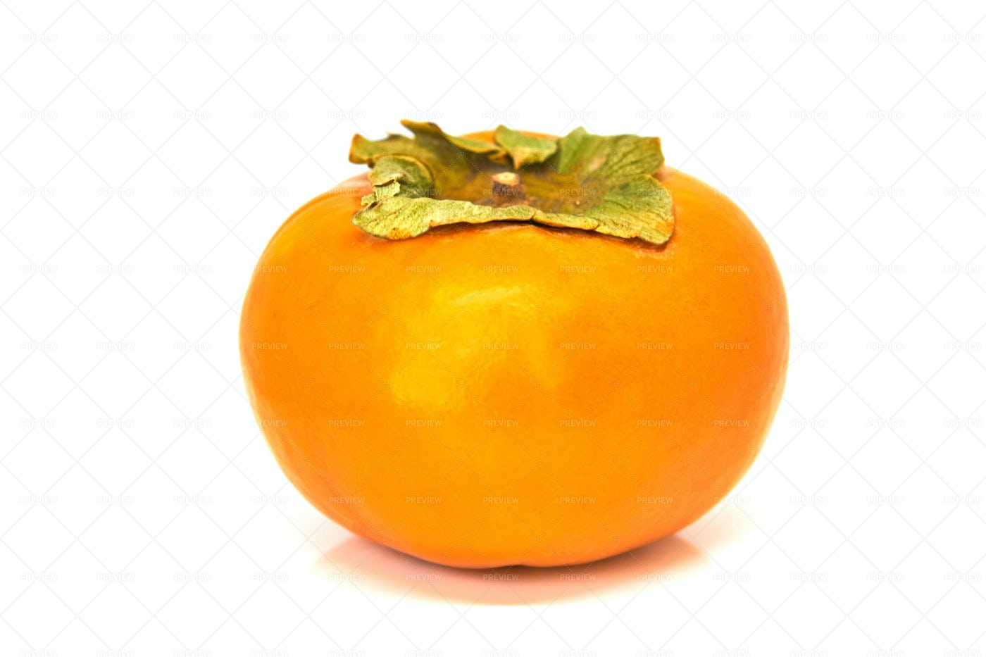 A Single Persimmon Fruit: Stock Photos