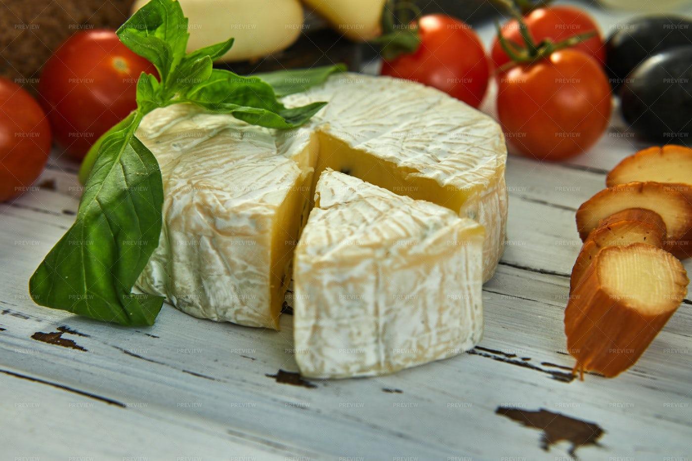 A Wheel Of Cheese: Stock Photos
