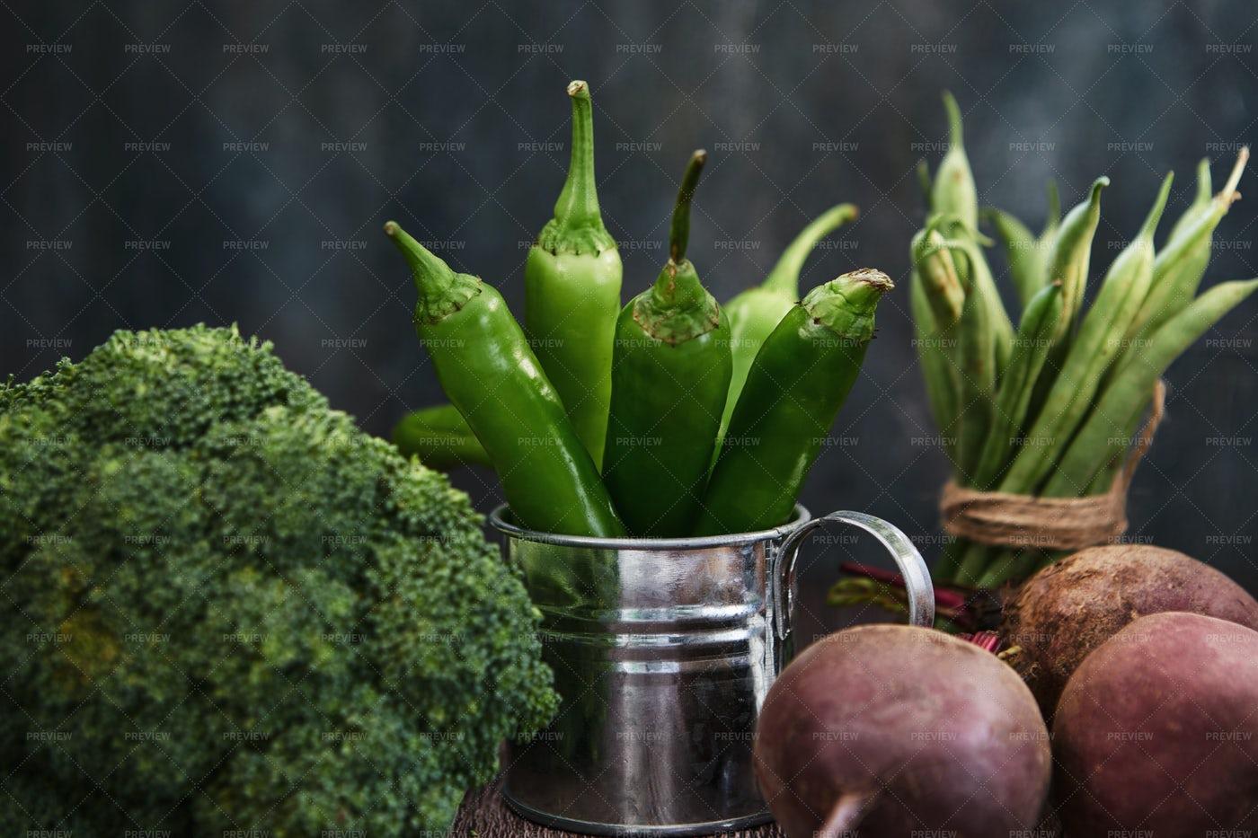 Green Hot Pepper: Stock Photos