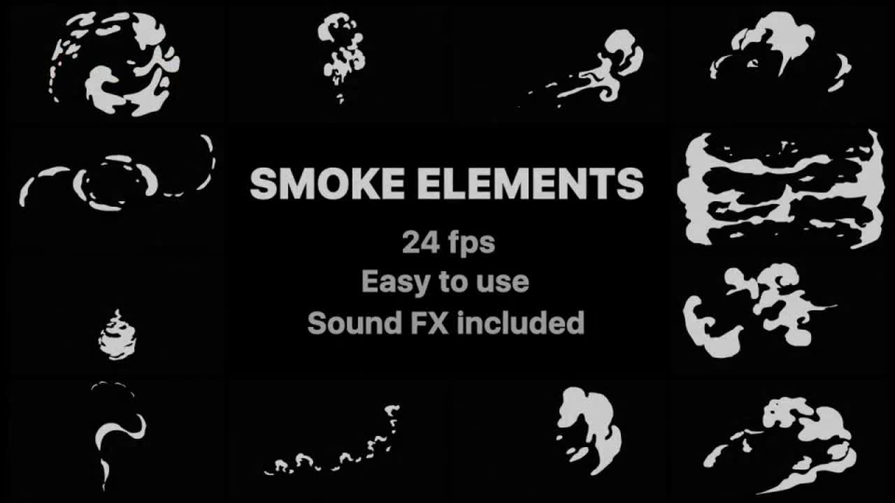 Flash FX Smoke Elements - Motion Graphics 78513 - Free download