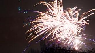 Fireworks Display On Dark Background: Stock Video