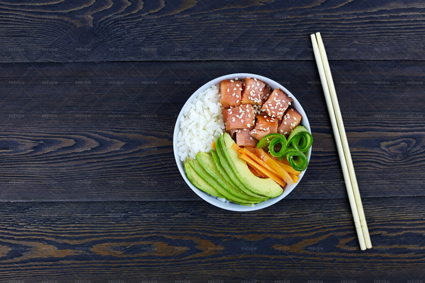 Poke Bowl: Stock Photos