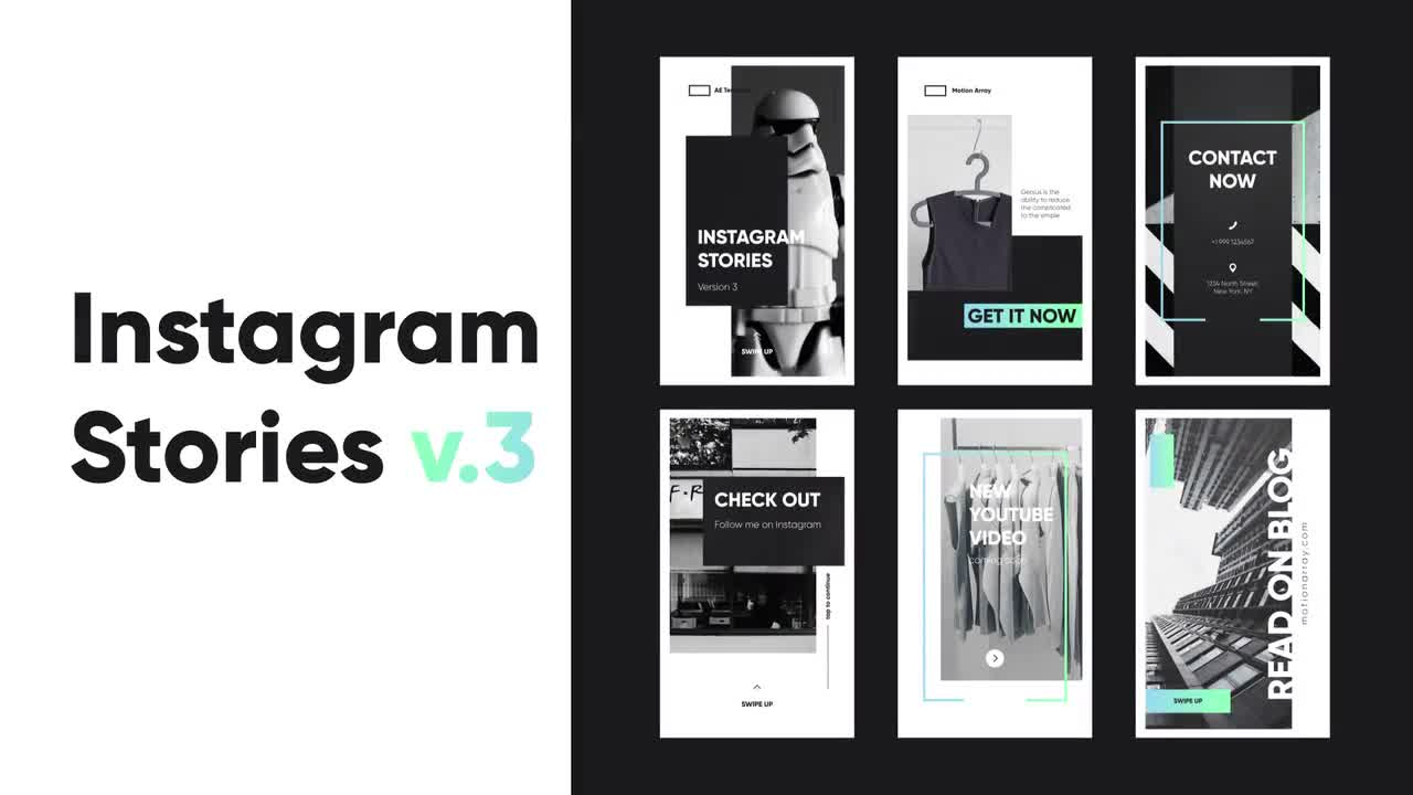 Instagram Stories v 3 - After Effects Templates | Motion Array