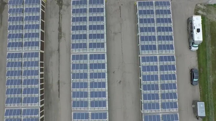 Industrial Solar Panels : Stock Video