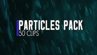 Color Particles Pack. 50 Clips: Stock Video