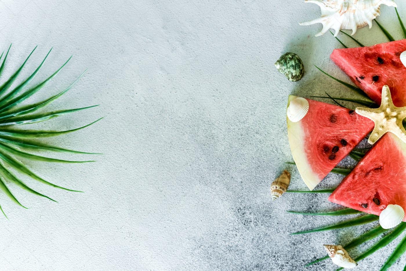 Tropical Watermelon Background: Stock Photos