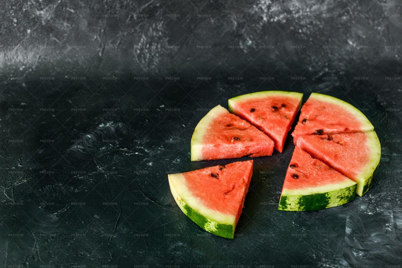 Watermelon Slices Background: Stock Photos