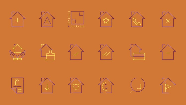 400 Animated Line Icons (Part 4): After Effects Templates