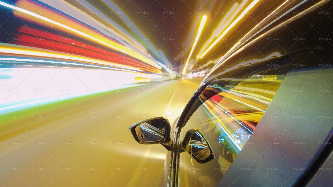 Driving Through The City: Stock Photos