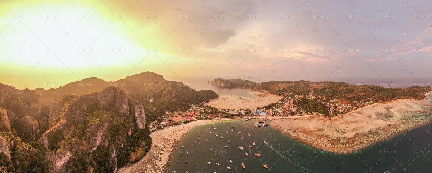 Sunset Over Phi Phi Island, Thailand: Stock Photos
