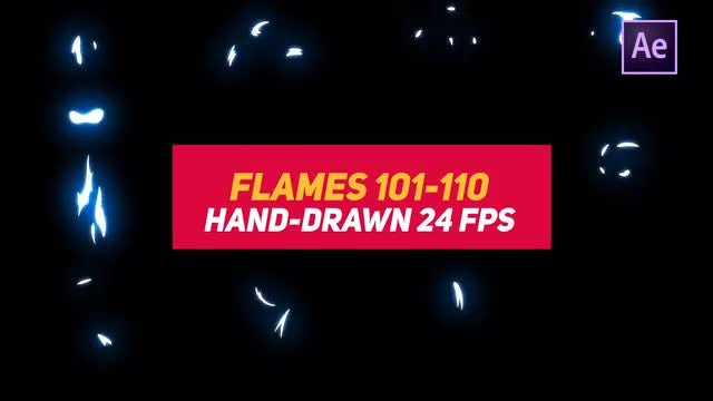 Liquid Elements 2 Flames 101-110: After Effects Templates