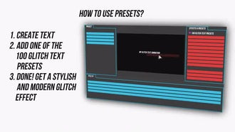 100 Glitch Text Presets Pack: After Effects Presets