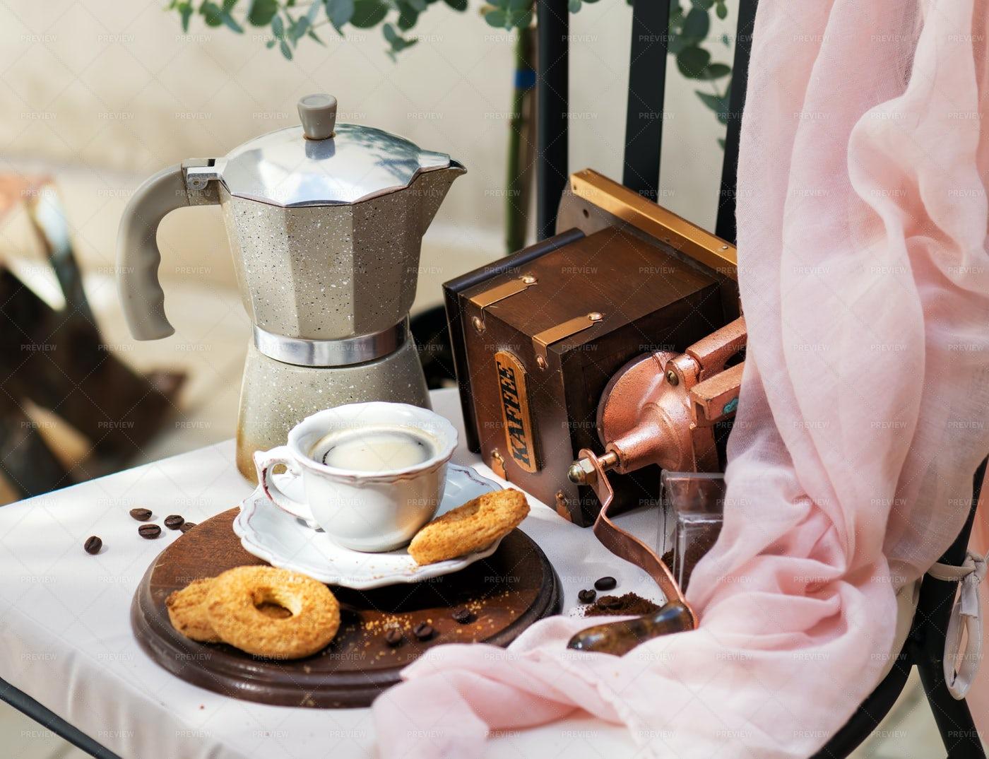 Morning Coffee Still Life: Stock Photos