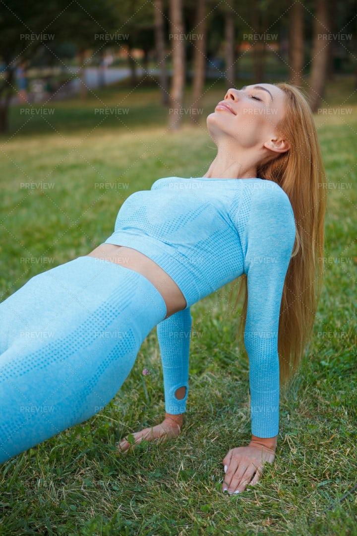Doing Plank Exercise: Stock Photos