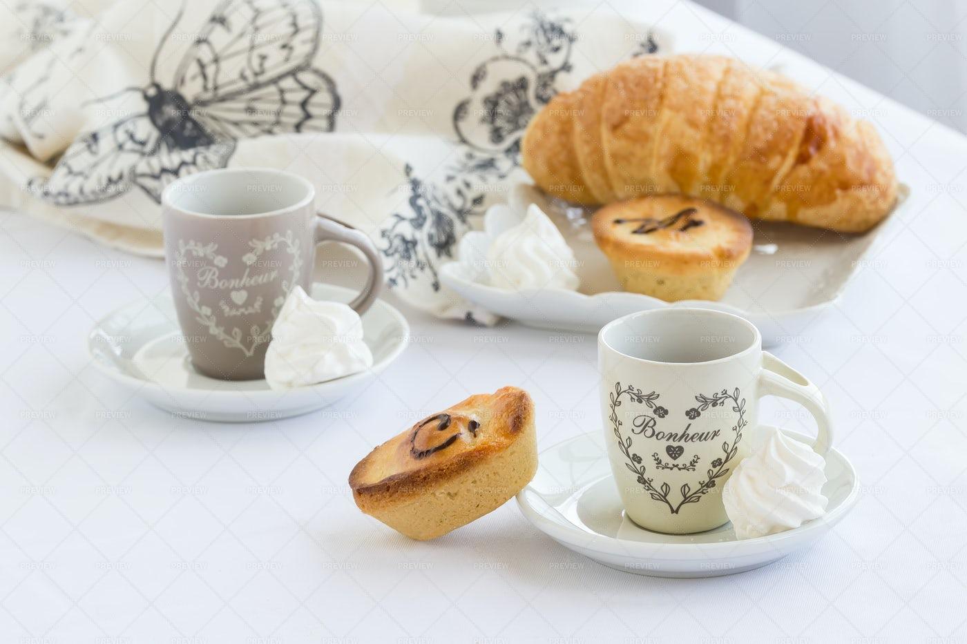 Coffee With Pasticciotto Pastry: Stock Photos
