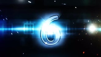 Blue Sparks Countdown : Motion Graphics