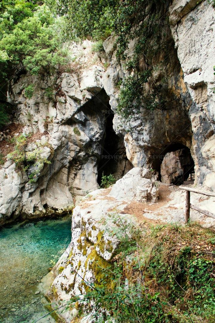 Sammaro River, Campania, Italy: Stock Photos