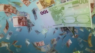 Falling Euro Background: Stock Motion Graphics