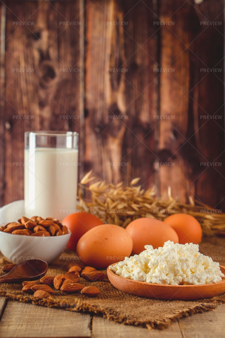 A Variety Of Proteins: Stock Photos