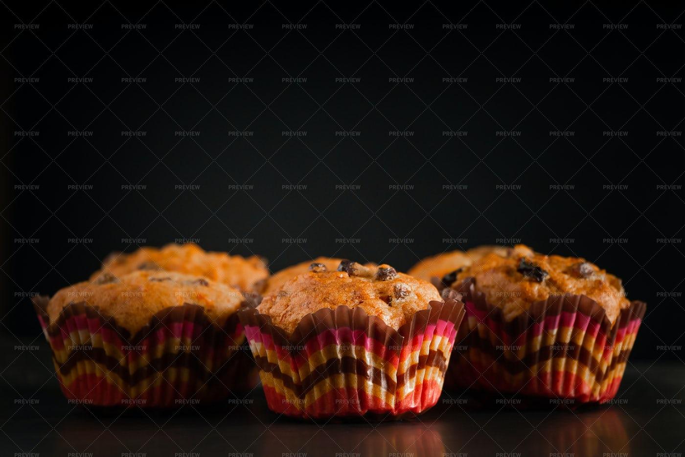 Raisin Muffins Background: Stock Photos