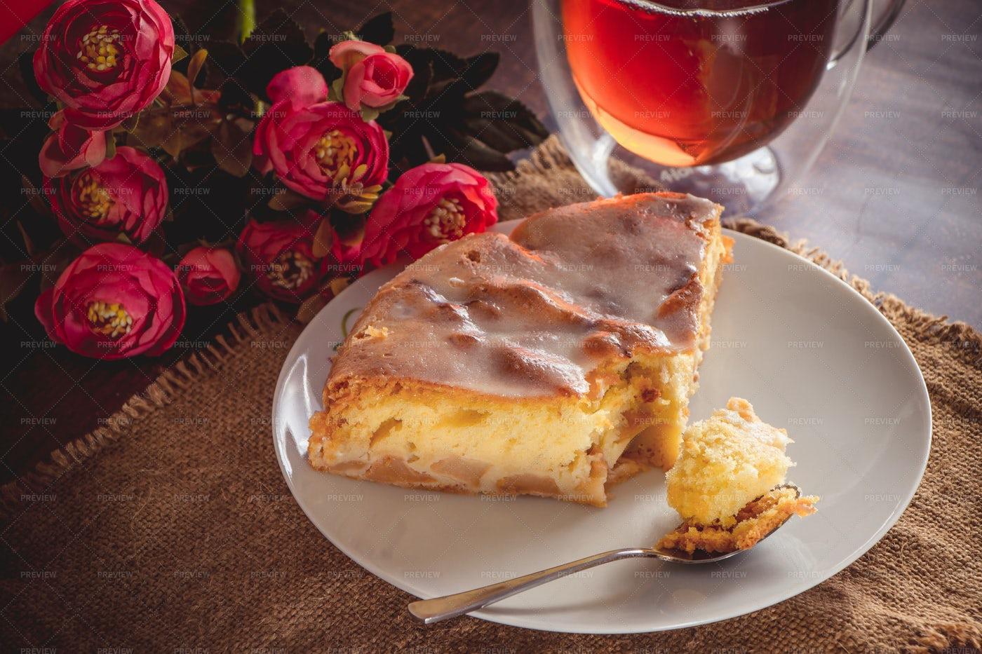 Slice Of Apple Pie: Stock Photos