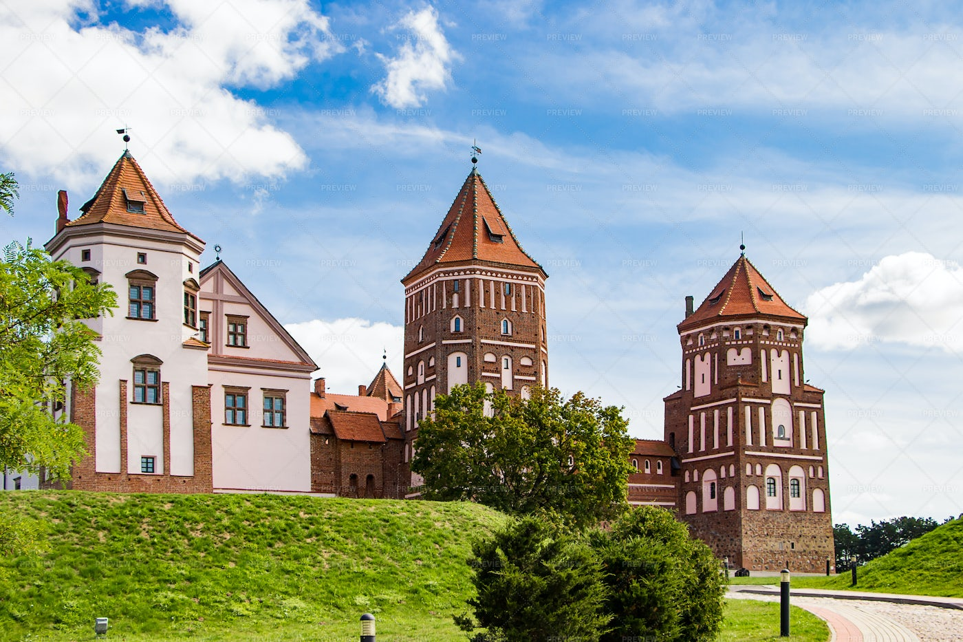 Medieval Castle During Summer: Stock Photos