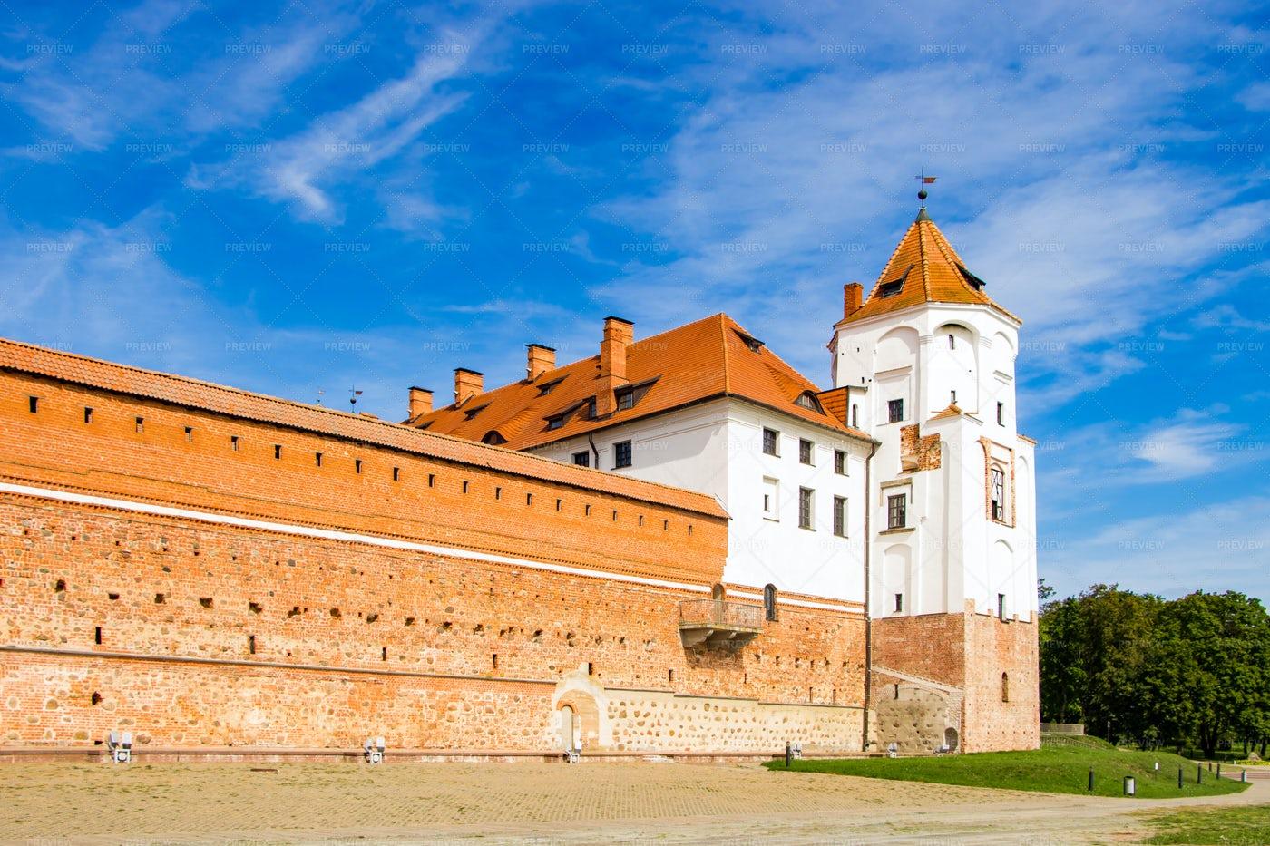 Medieval Castle In Belarus: Stock Photos