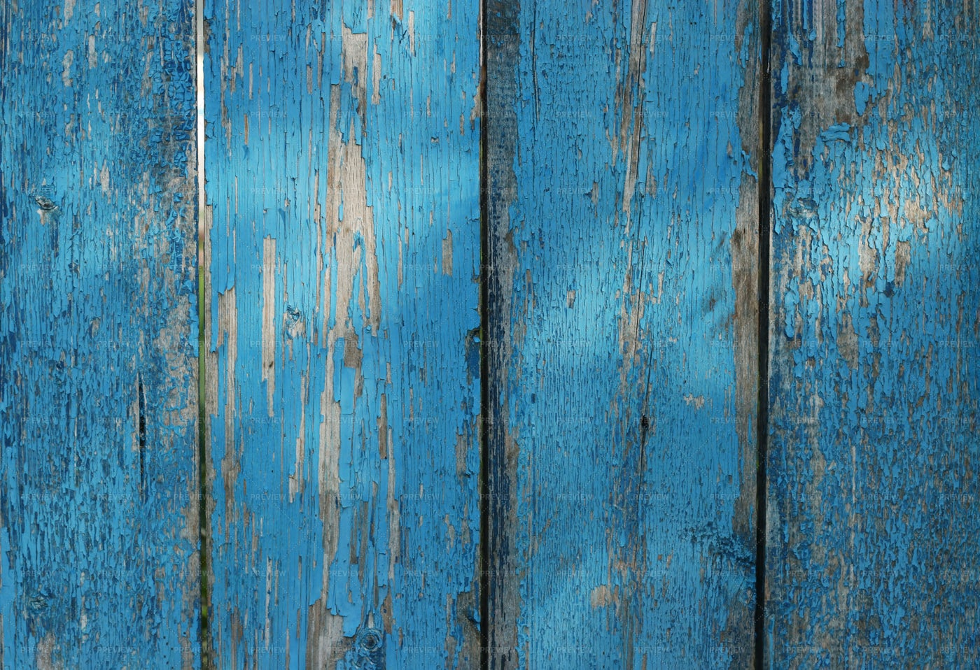 Old Blue Wooden Planks: Stock Photos