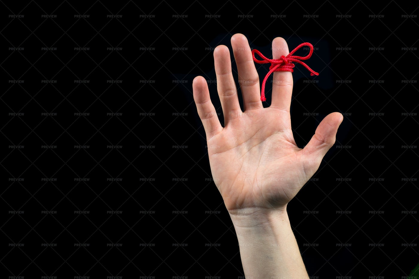 Hand With String: Stock Photos