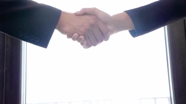 Man And Woman Shaking Hands: Stock Video