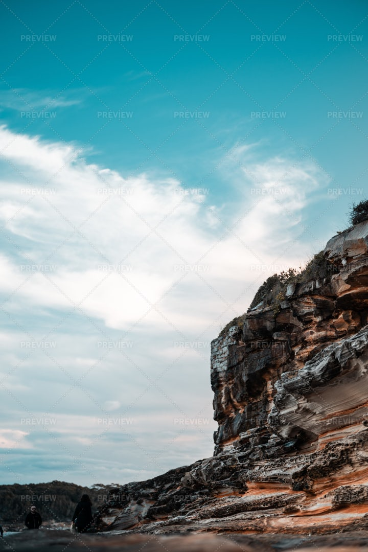 Blue Sky And Rock: Stock Photos
