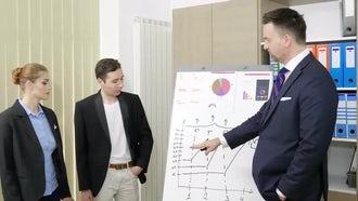 Senior Businessman Mentors Colleagues: Stock Video