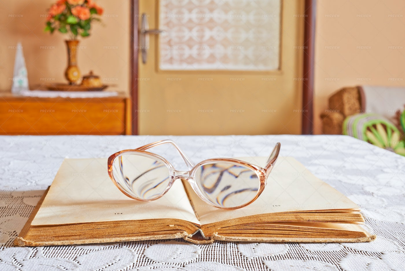 Books With Glasses: Stock Photos