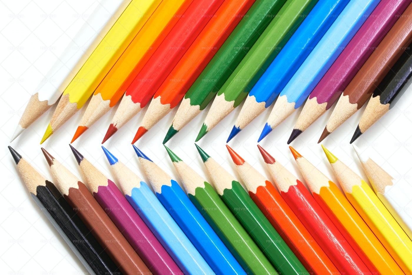 Colorful Crayons: Stock Photos