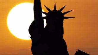 New York Sunset Aerial: Stock Video