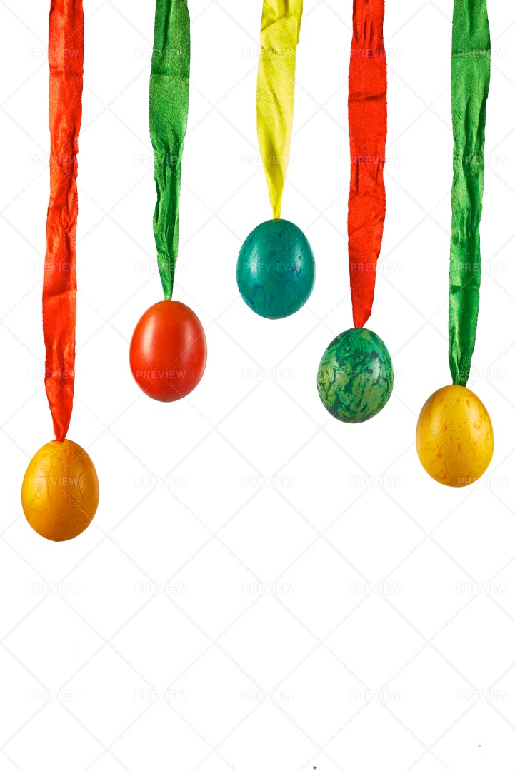 Easter Decorated Eggs: Stock Photos