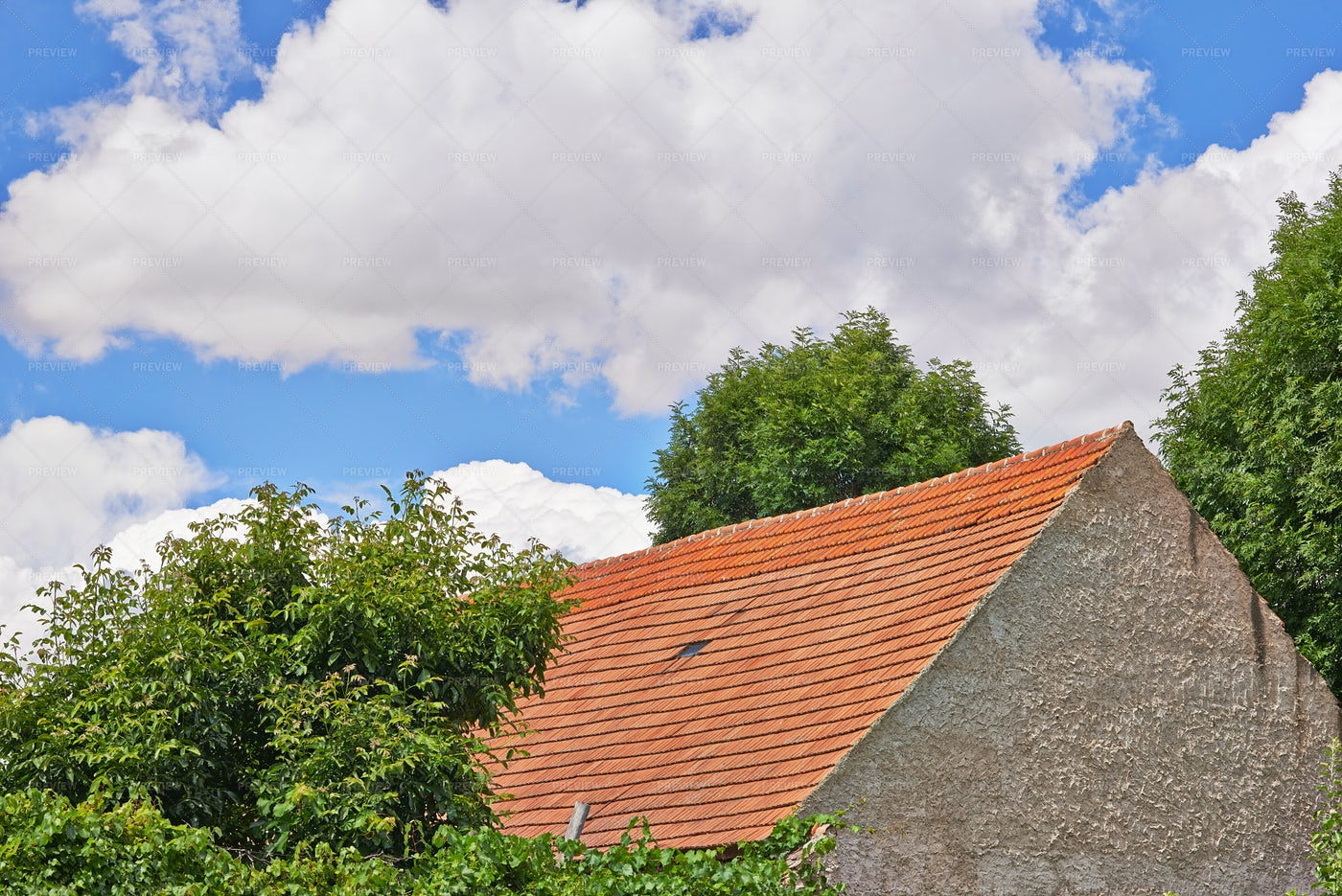 Roof And Clouds: Stock Photos