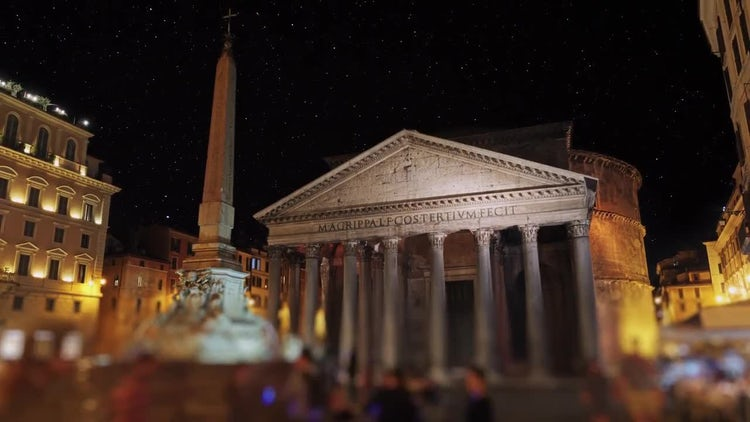 The Pantheon In Rome Italy: Stock Video