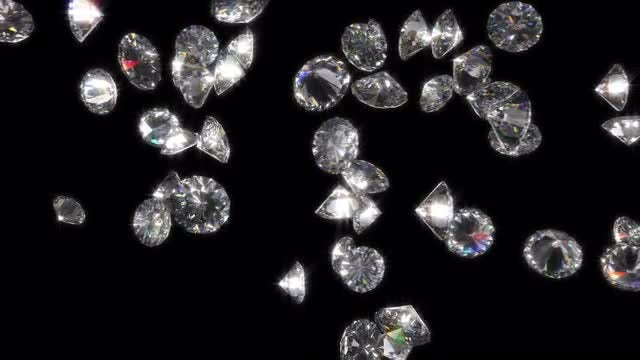 Colliding Diamonds With Alpha Channel: Stock Motion Graphics