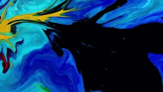 Colored Liquid Paints Blending : Stock Video