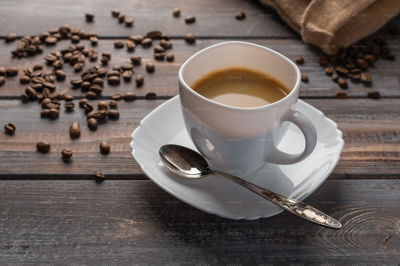 Coffee With Spoon: Stock Photos