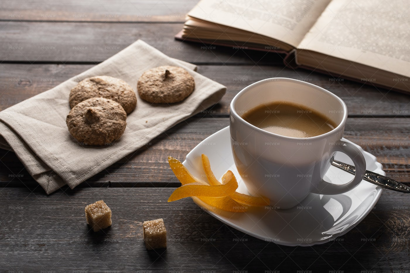 Coffee With Candies: Stock Photos