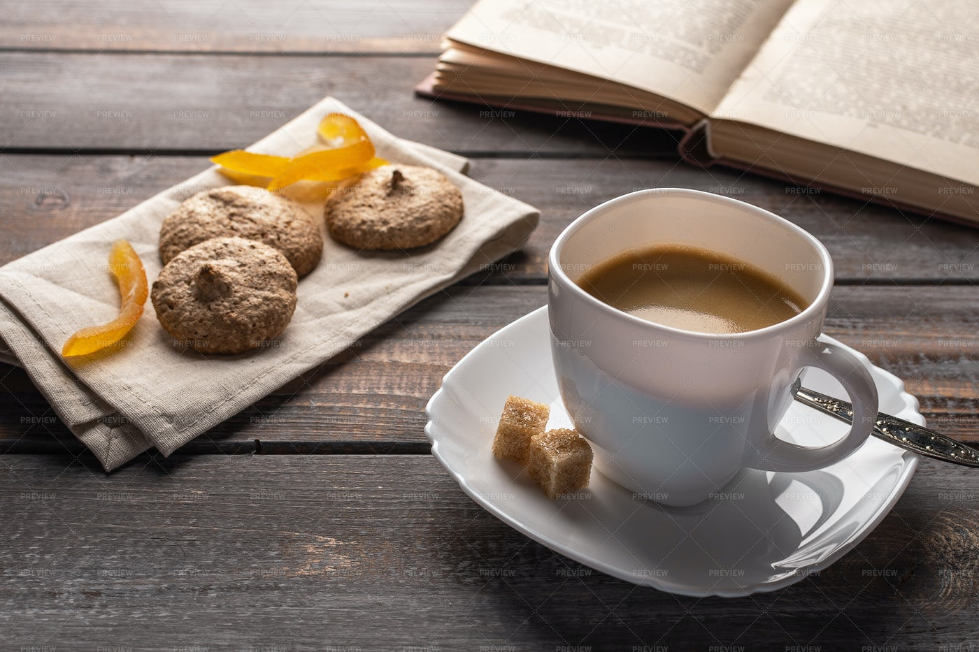 Hot Black Coffee: Stock Photos