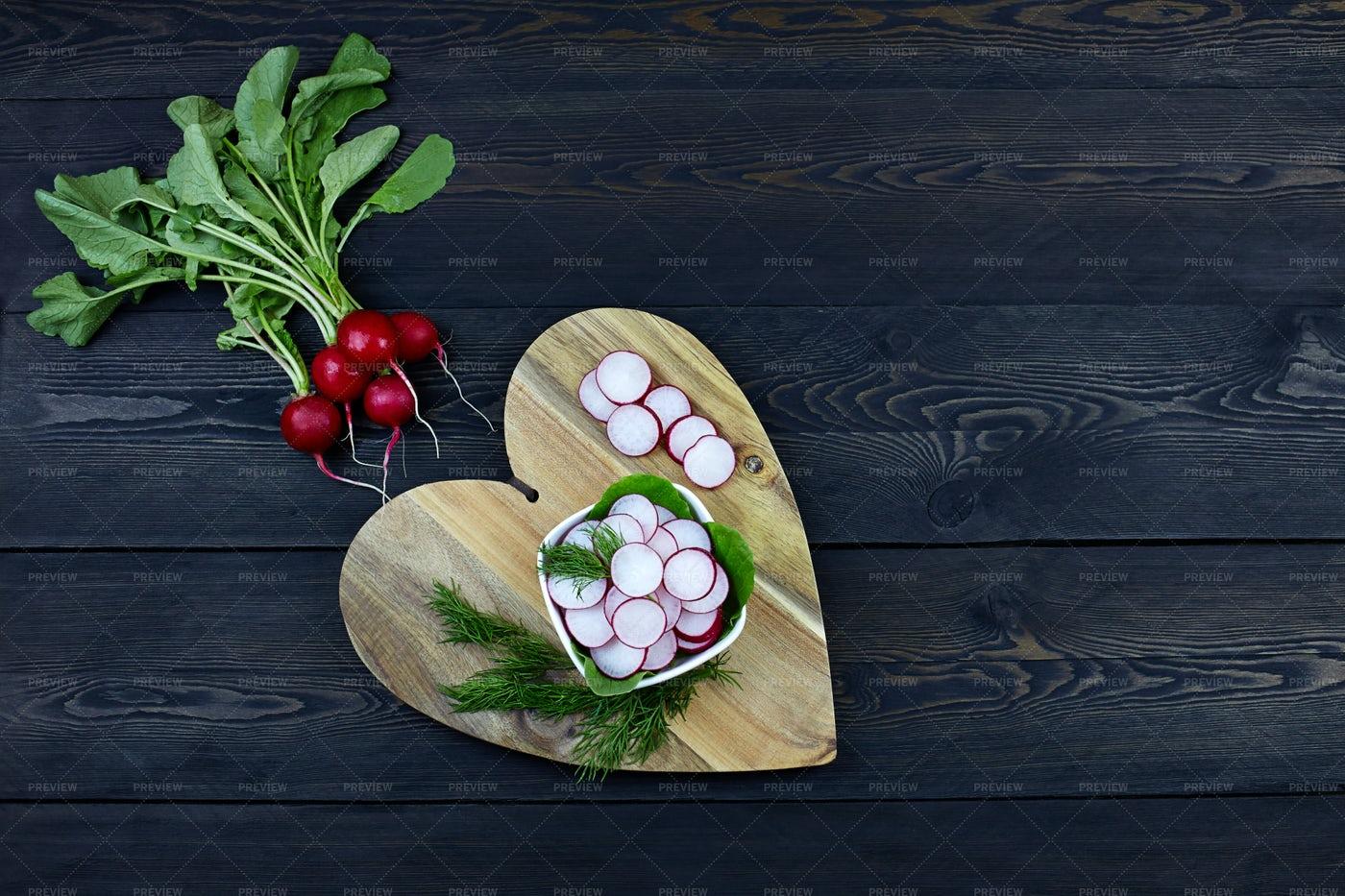 Fresh Radish Salad: Stock Photos