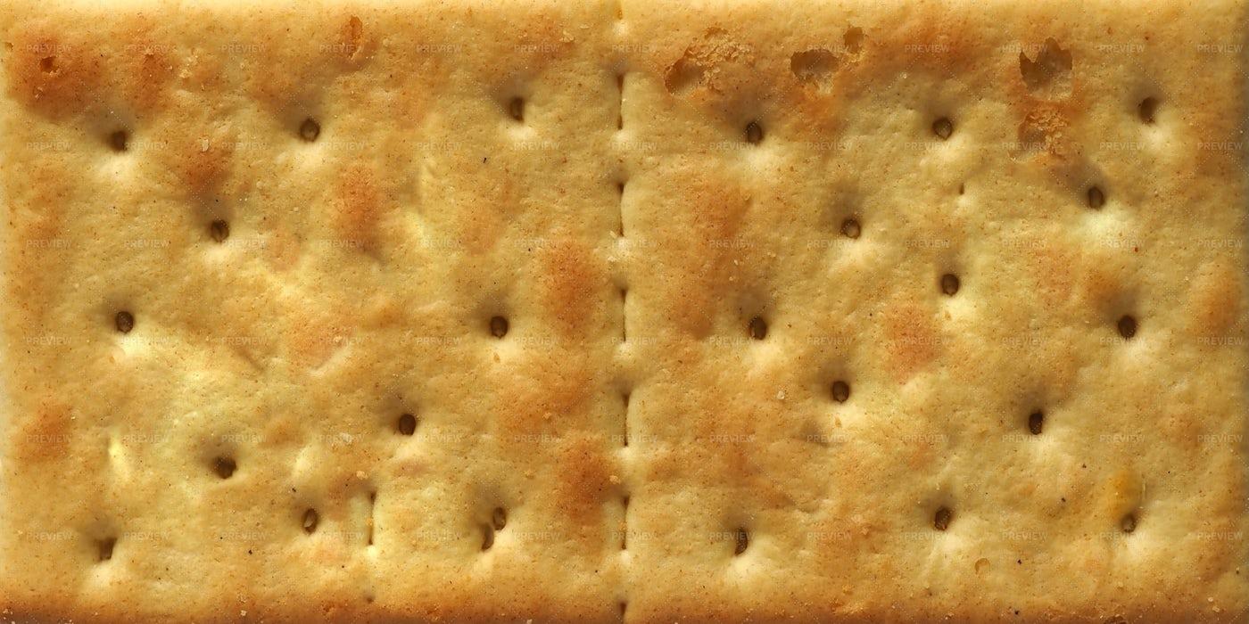 Salted Cracker Close-Up: Stock Photos